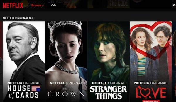 Netflix House of Cards The Crown Stranger Things Love