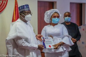 PHOTO: Senate President conferred as Patron of Chartered Institute of Forensic & Investigative Professionals