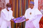 PHOTO: Sanwo-Olu Presents Pictorial Report of EndSARS Aftermath to President Buhari