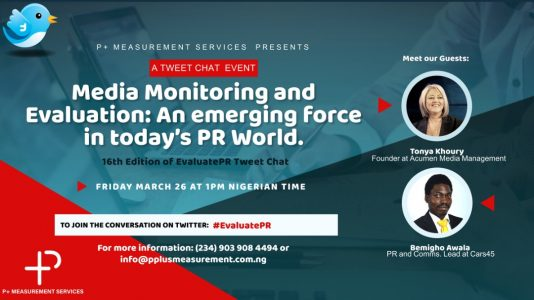 P+ Measurement Services hosts 16th Edition of #EvaluatePR Tweetchat -  Prompt News