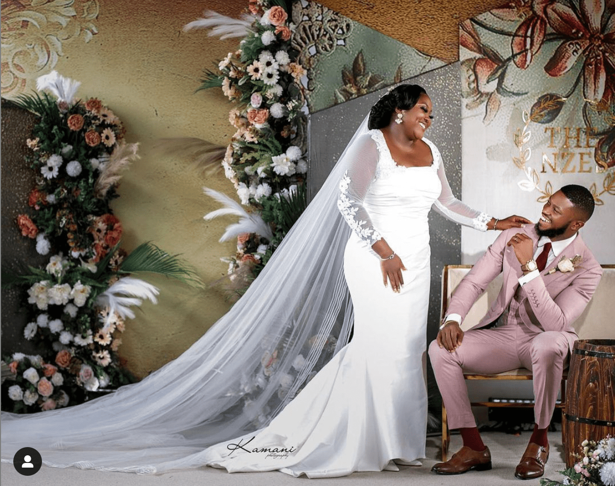Nollywood actors Stan Nze and Blessing Jessica Obasi tied the nuptial knot on Saturday, September 11.