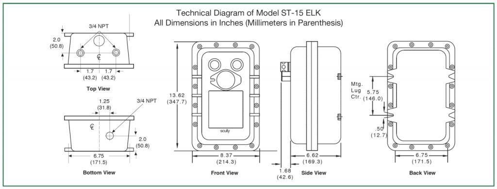 Technical Diagram of Model ST-15 ELK