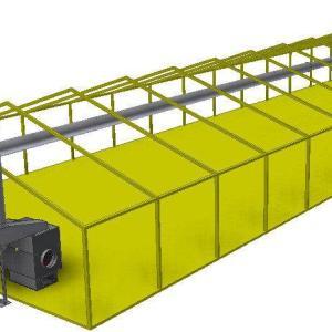 Воздушное отопление теплицы 9 х 27 - 250 м.кв комплект