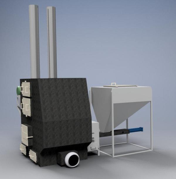 Воздушное отопление цеха 1200 кв.м.