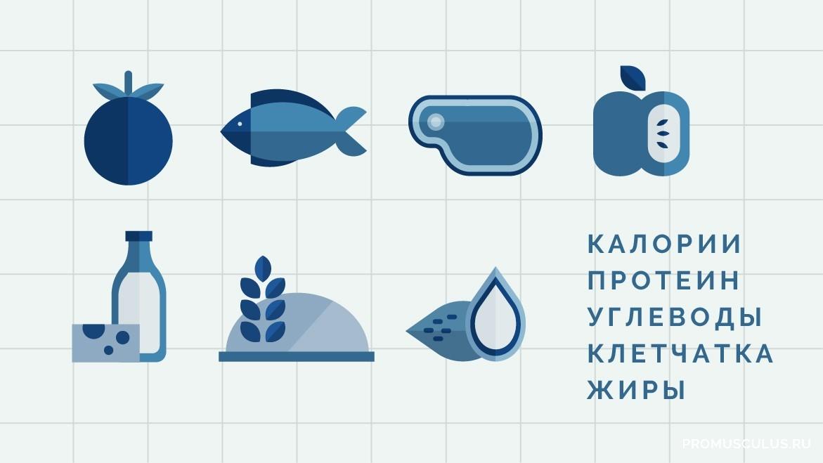 Сколько протеина, углеводов и жиров содержится в продуктах