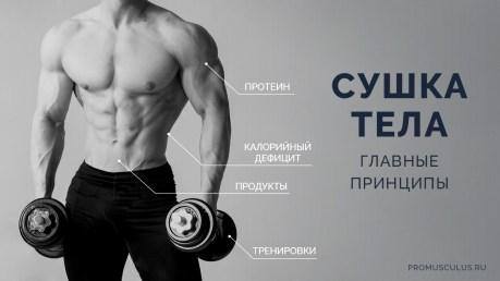 Правила сушки тела в бодибилдинге