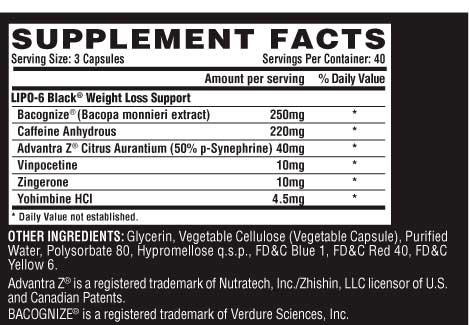 Факты о жиросжигателе Nutrex Lipo 6 black hers/ultra concentrate ...