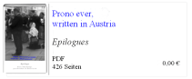 Prono ever written in Austria Epilogues - BK