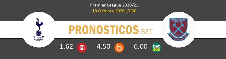 Tottenham Hotspur West Ham Pronostico 18/10/2020 1