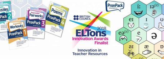 PronPack 1-4 Shortlisted for ELTons 2018!