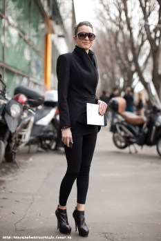 stret style fashion total black preto