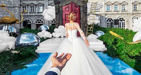O casamento do casal de viajantes: Follow me On