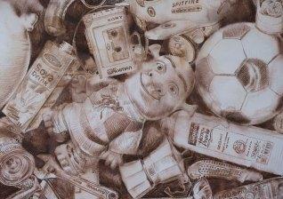 176, (Detalle). lápiz de acuarela sobre papel. 140 x 200 cm. 2011. ©Jairo Alfonso