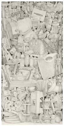 212. lápiz de acuarela sobre papel. 57,5 x 78,7 cm . 2014. ©Jairo Alfonso