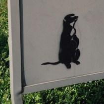 Erdmännchen stencil streetart