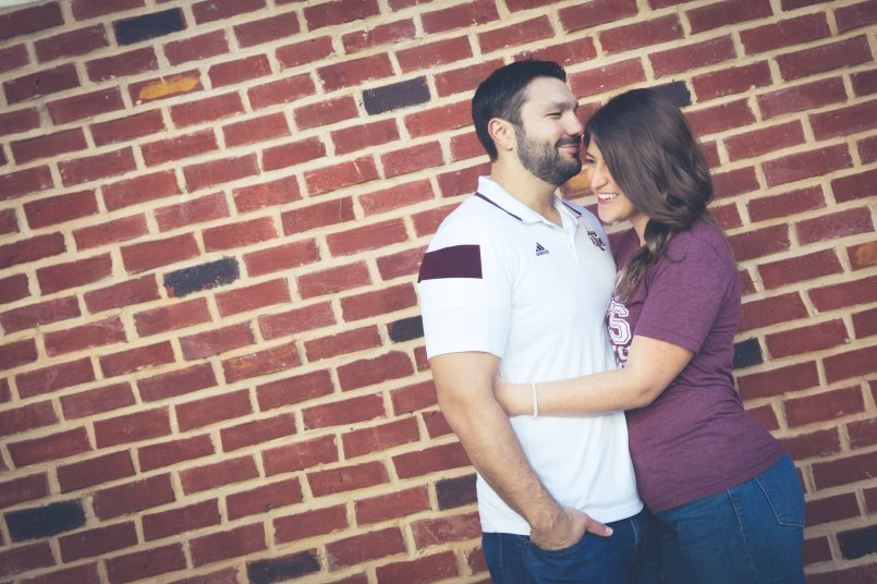 McKinney Downtown Engagement Photography