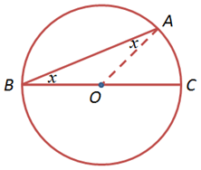 The Proof Of The Second Case Of The Inscribed Angle Theorem