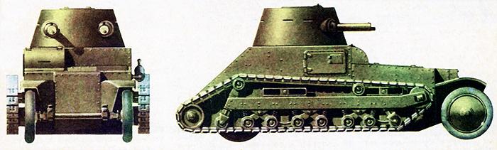 Английский колесно-гусеничный танк «Виккерс» 1926 г.