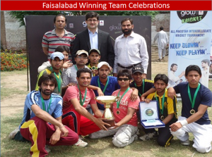 faisalabad prizes 300x223 All Pakistan Glow Cricket Tournament Concludes