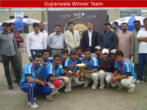 gujranwala winner team 300x225 All Pakistan Glow Cricket Tournament Concludes