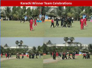 karachi team celebrations 300x224 All Pakistan Glow Cricket Tournament Concludes