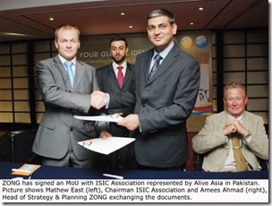 ZONG Sign MoU 28 June 2011 thumb Zong Signs MoU with International Student Identity Card Association
