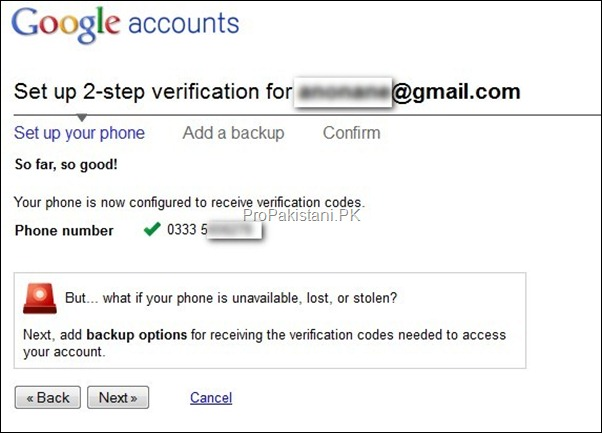 2 step authentication 03 thumb How to Enable 2 Step Verification for Google Account?