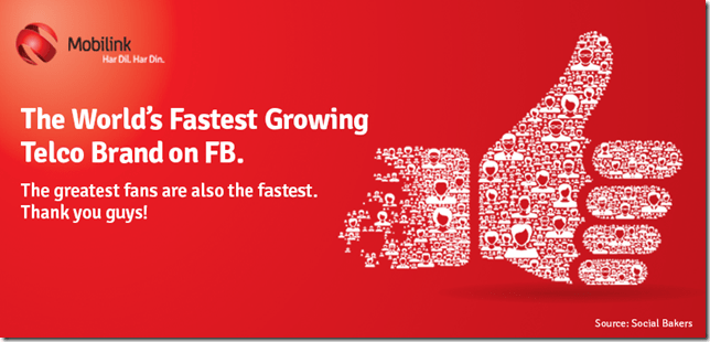 Mobilink Mobilink Becomes the World's Fastest Growing Brand on Facebook