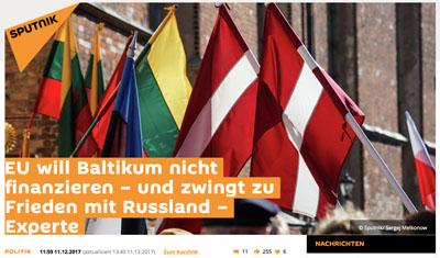 Der Deutsche Sputnik veröffentlicht Lügen über Estland