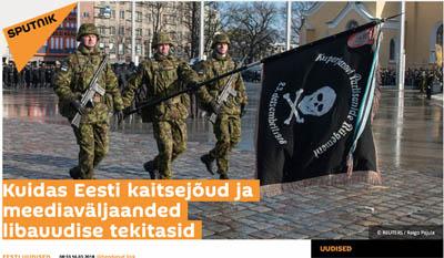 Sputnik versuchte die Estnischen Streitkräfte zwischen zwei Stühle zu setzen