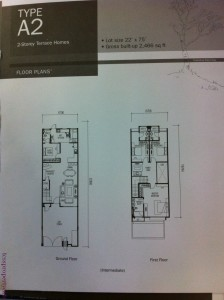 Floor plan for 22x75