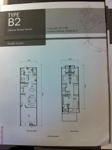 Floor plan for 22x80