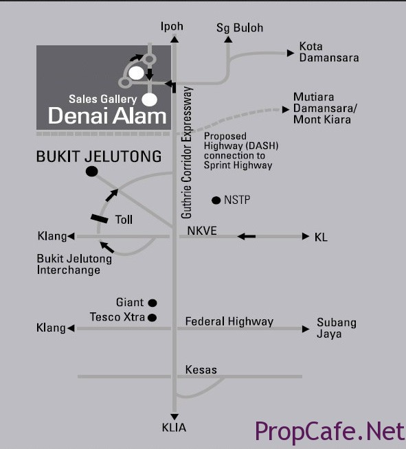 Location Map of Denal Alam Sales gallery