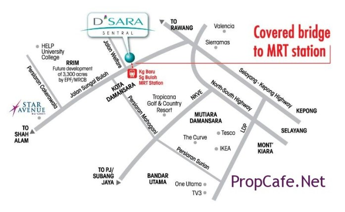 location map. SqWhere is on the corner side before Jln Welfare, along Jln Sg. Buloh.