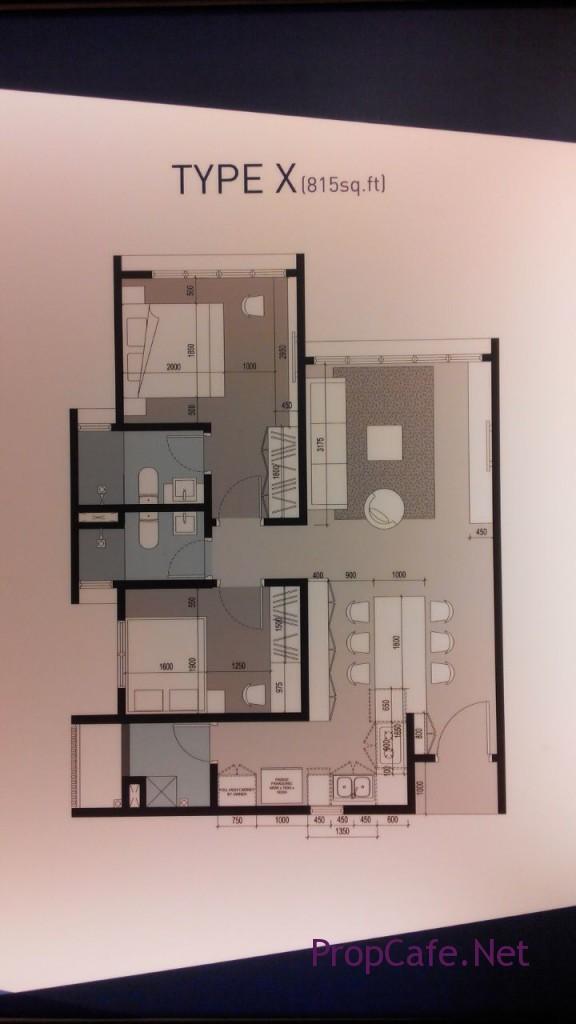 Ohako Type X 815sf 2 bedroom
