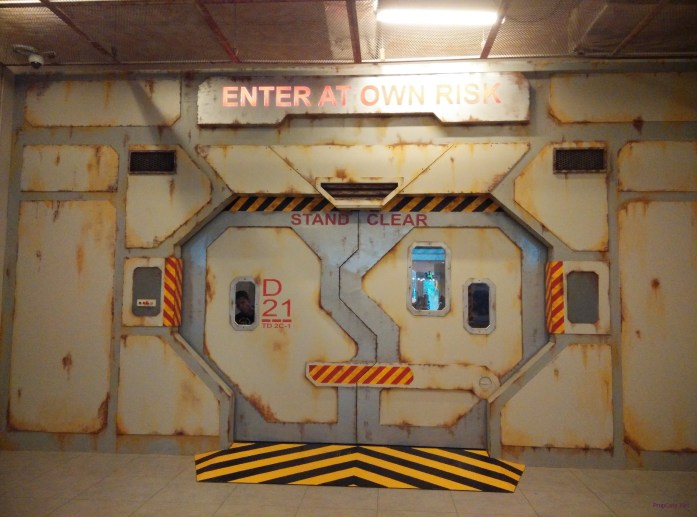 The Main Entrance leading to the decontamination chamber.