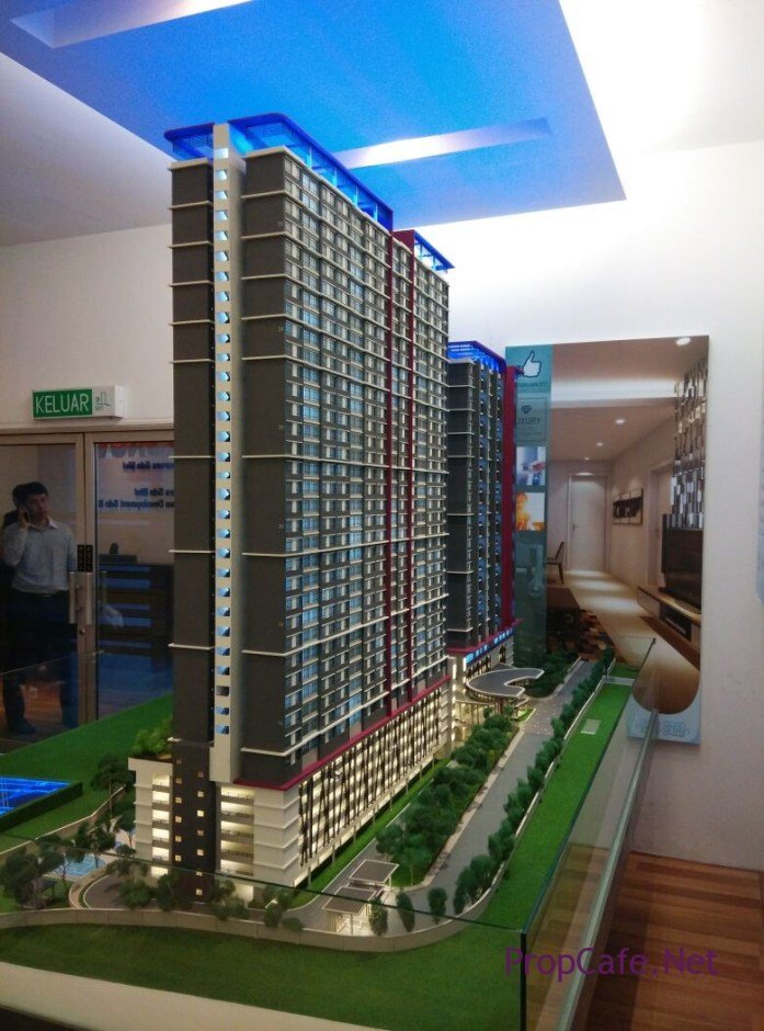 Casa Green Bukit Jalil Overall (Side View & Back Facing Bukit Jalil Light Integrated Business Park)