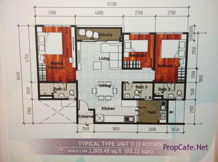 Casa Green Bukit Jalil Type D Layout