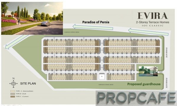 Bandar_puteri_warisan_Evira_site_plan