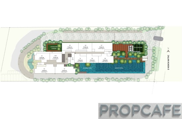 Sunway-Mont Residence-site plan