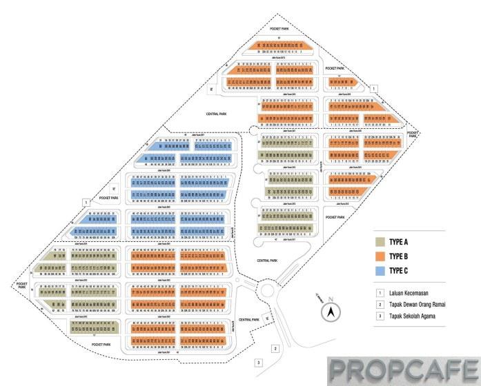 Bandar Rimbayu Penduline siteplan