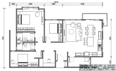 Type G 1204sqft 3+1 bedrooms