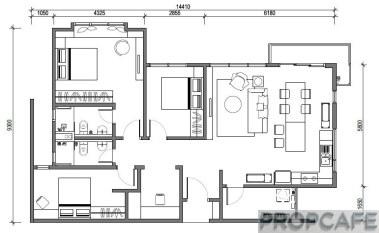 Type G 1204sqft 3+1 bedrooms