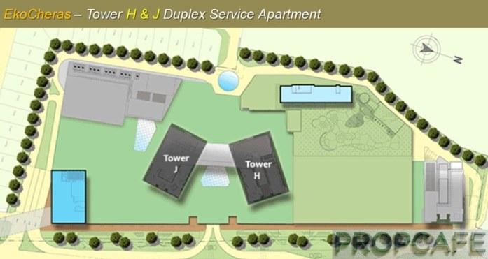 EkoCheras Tower H and J Duplex Service Apartment