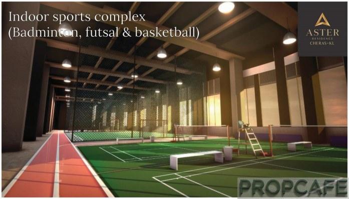 Aster Residence Futsal, Badmin and Basket Ball Court