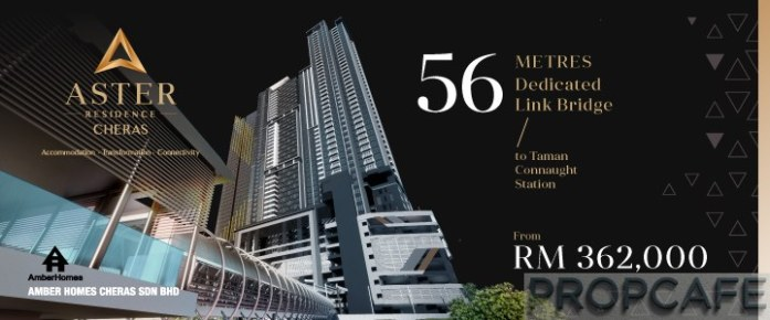 Aster Residence @ Cheras 56m Direct Linked to MRT Station