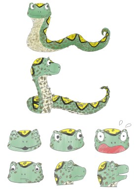 Adam the Snake sketches 2