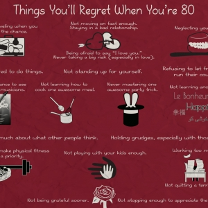 Things You'll Regret When You're 80 poster