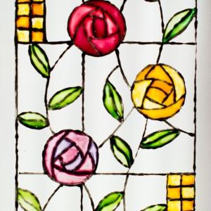 Glass paint - art nouveau