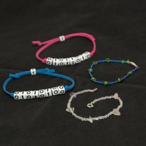 Binary bracelets and beaded bracelets